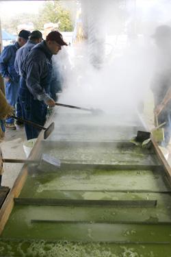 Sorghum makers cooking sorghum at Wewoka's annual Sorghum Festival