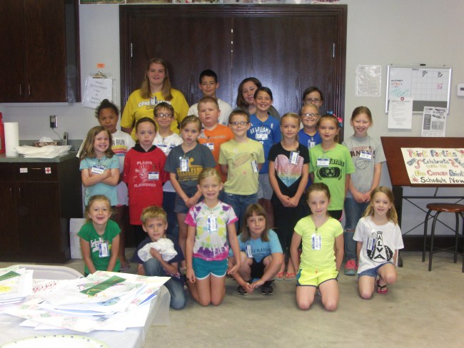 An Art Camp group in Alva