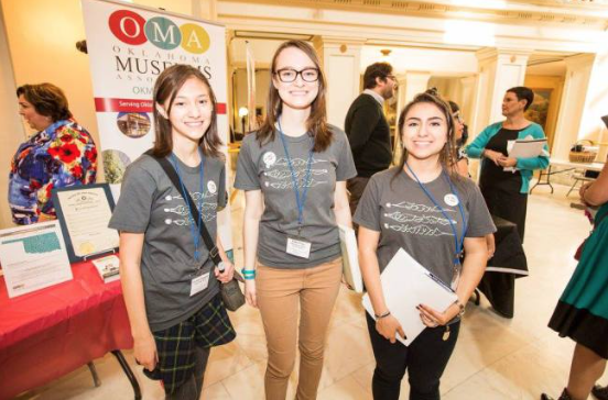 High School Students from Edmond helped deliver packets to all 149 State Legislators on Oklahoma Arts Day.