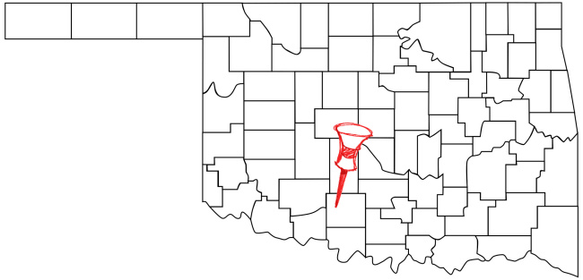 Duncan (pop. 23,173) is located in southwestern Oklahoma.