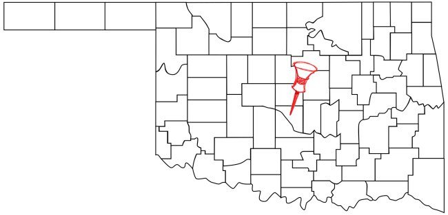 Norman (Pop. 118,040) is located in central Oklahoma.