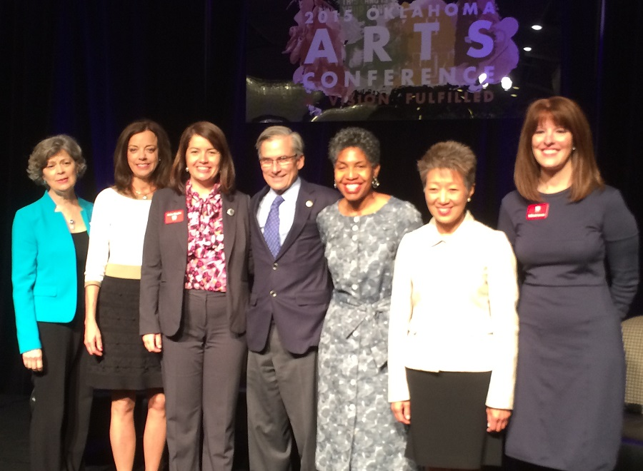 National Endowment for the Arts & National Endowment for the Humanities leaders at Oklahoma Arts Conference in 2015