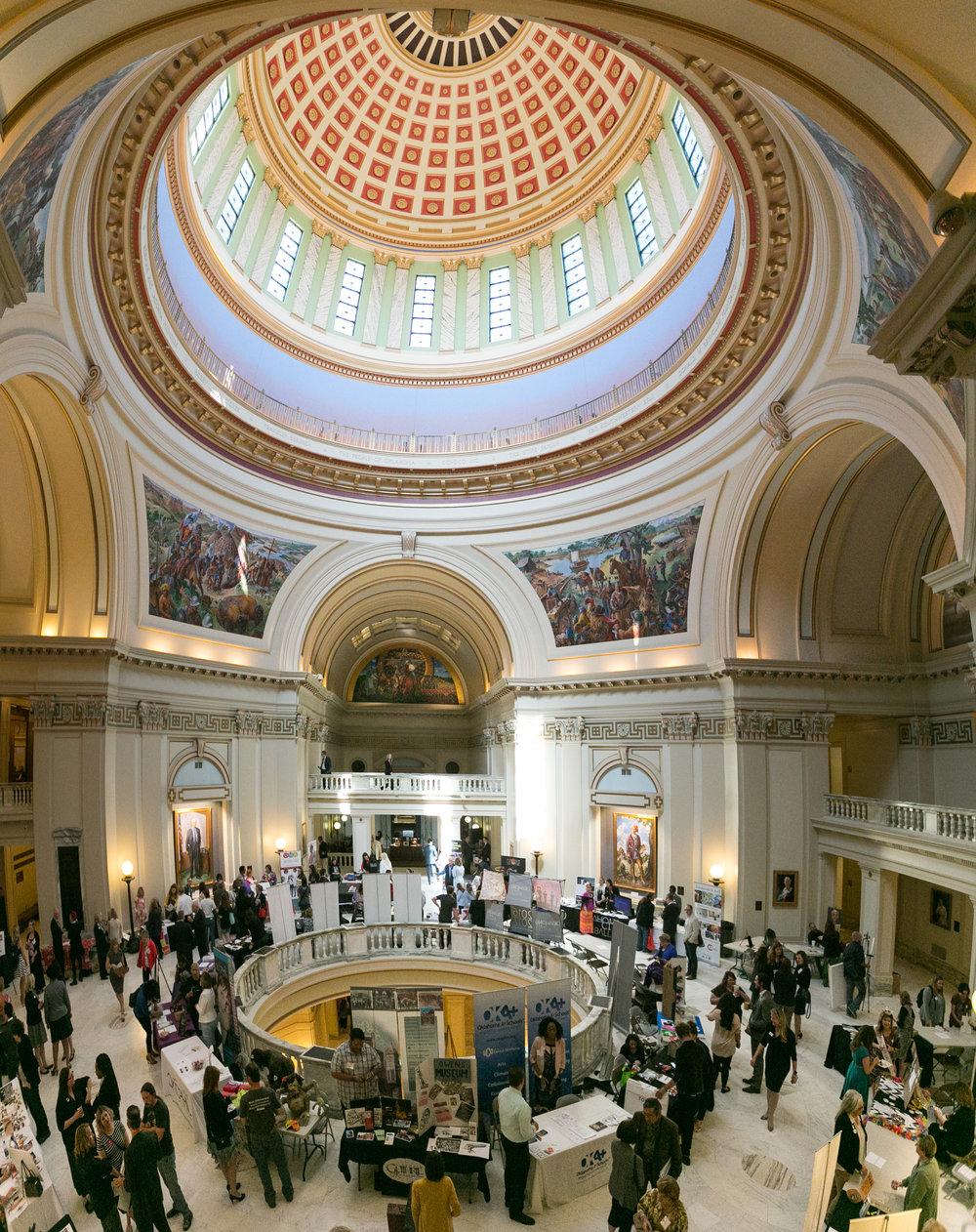 2nd Floor Rotunda of the OK Capitol Building, Arts Day 2016
