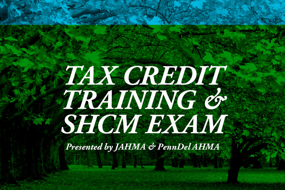 Tax Credit Training Shcm Exam Jahma