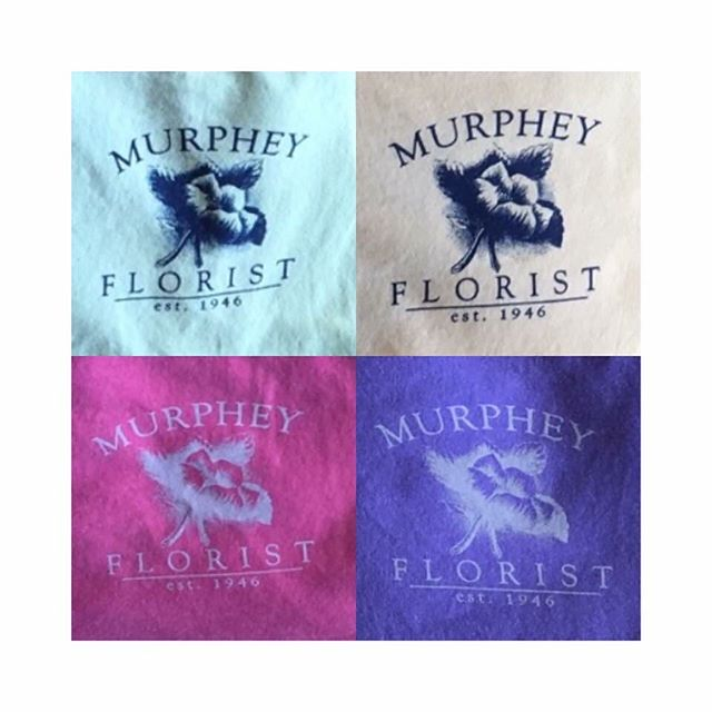 Love Murphey Florist & getting to work with them! Get your shirt today. #brittanyblackburndesign  #logo #logoinspiration #logos #design #graphicdesigner #customdesign #florist  #Repost from Murphey Florist ••You asked and we delivered!•• 💛yellow💛 💚green💚 💗pink💗 💜purple💜  Our Murphey Florist original t-shirts (designed by the beautiful Brittany Blackburn Design 😘) are officially in stock and come in adult sizes small-2XL!  Stop by the shop and get your eyes on these gorgeous shirts, we can't wait to rock them all around town! 📫6 LaGrange Street, Historic Downtown Newnan ☎️770-253-5424
