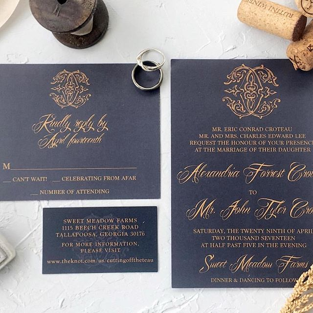 H A P P Y W E E K E N D ✖️ what are your weekend plans?  Despite the nonexistence on social media, we are hard at work & excited to share new designs. This wedding stationery is giving us all the feels.  More to follow ✨ #brittanyblackburndesign