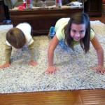 kids and pushups