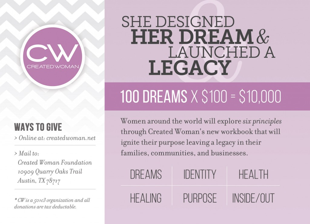 CW Dream Campaign Postcard