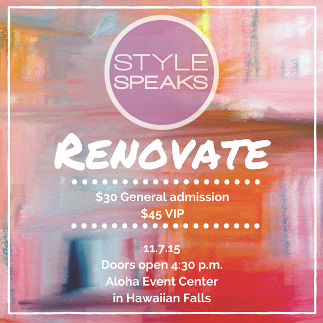Style Speaks Renovate