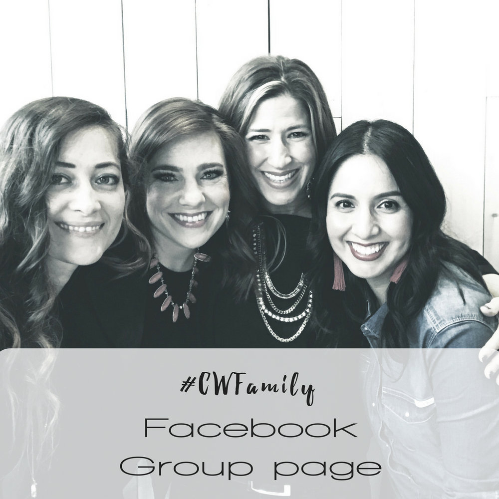 We have a facebook family group page just for us! This is place we ask for prayer, update each other on what's going on in our lives and anything the family may need help with.  Also, on every Monday, Heather records a 5-minute facebook live encouraging the whole team with a scripture and/or challenge for the week. We also take time to list our prayer request on a special Wednesday post.    Be sure to request to  JOIN HERE !