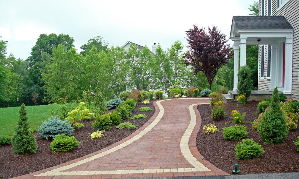Merveilleux Concrete Driveway Pavers For A Winter Ready Front Yard In Hopewell  Junction, NY