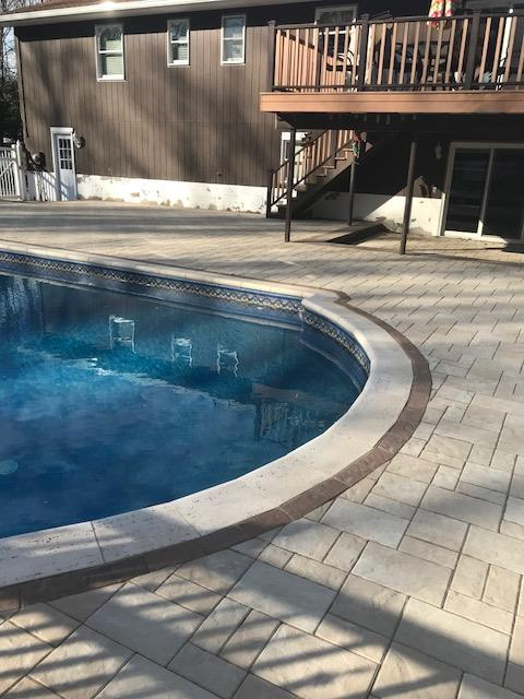 Pool patio design in Westchester County, NY