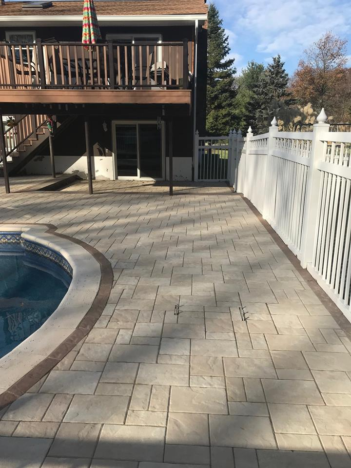 Patio with Unilock Treo Tuscany in Westchester County, NY