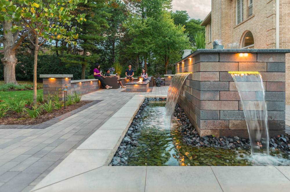 Integrating a Waterfall or Fountain in Your Fishkill, NY, Retaining Wall