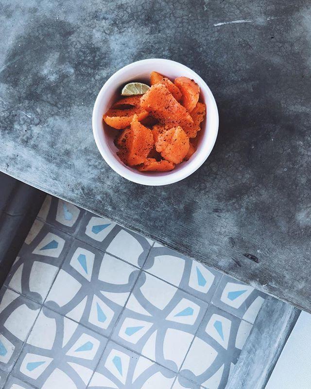 Papaya and tajín and tile. [repeat]  Honestly, tajín on everything.