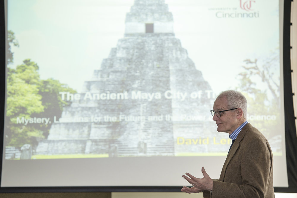 UC Professor and Executive Director of the Center for Field Studies David Lentz shares how perspectives from history can provide lessons for the future in his presentation of the Maya City of Takal.
