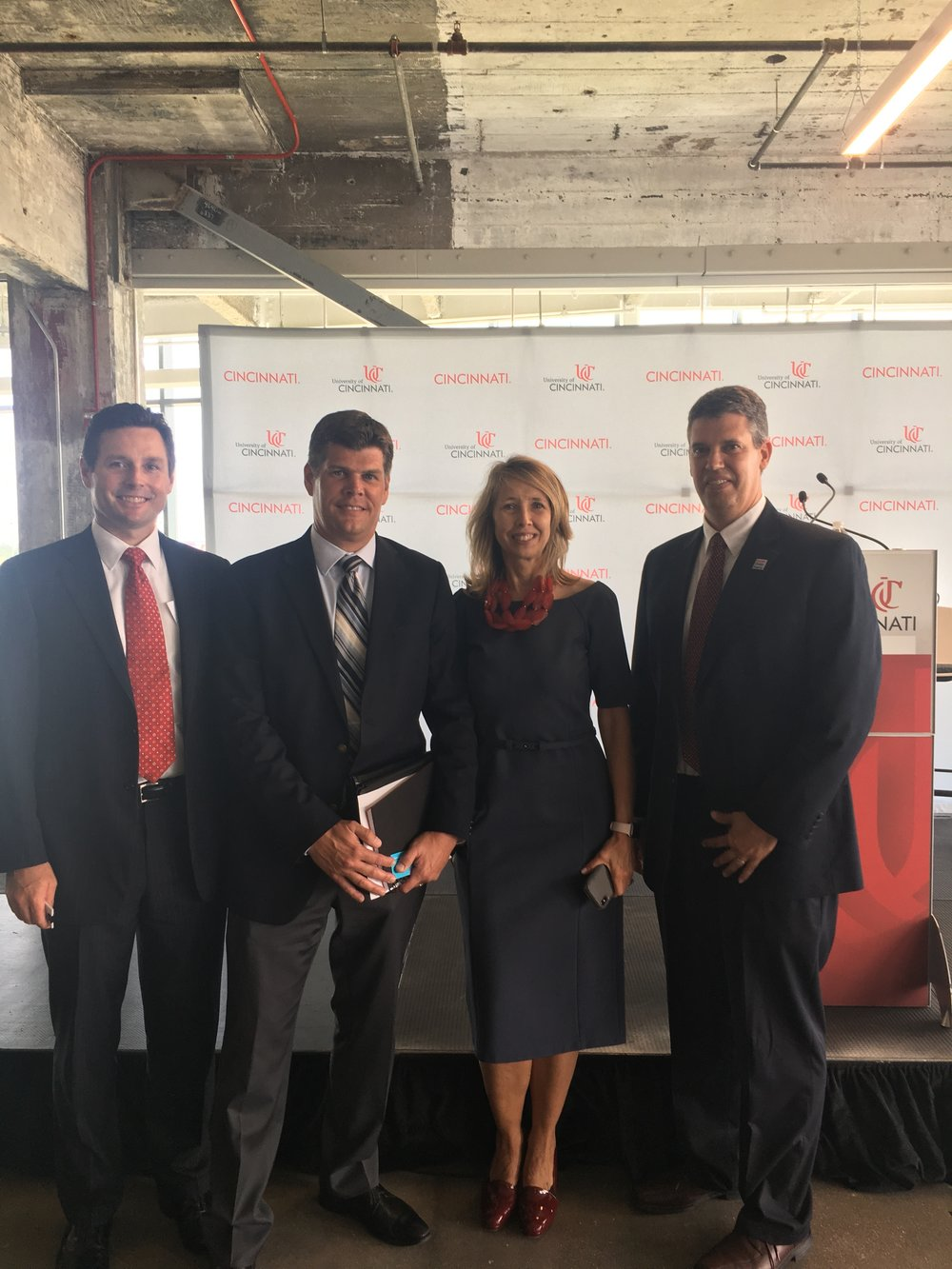 Uptown Consortium, Inc. President & CEO Beth Robinson with Terrex Development & Construction at UC's digital futures announcement.