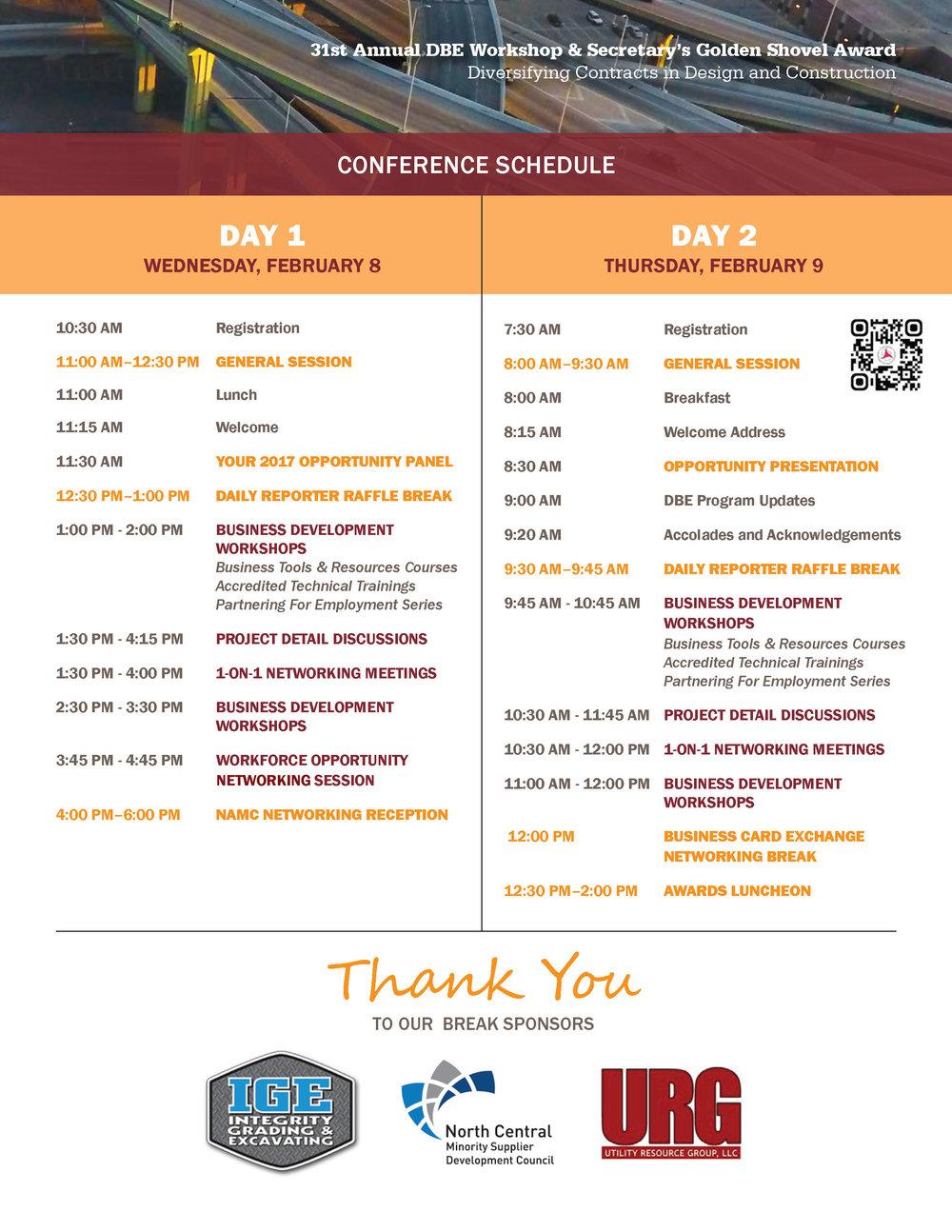 31st Annual Event Agenda — Golden Shovel WI Conference