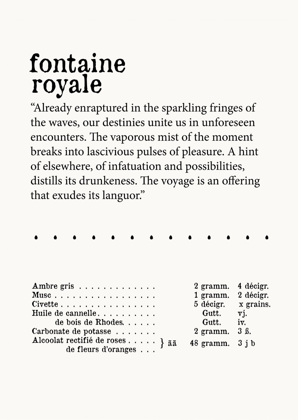 fontaine royale recipe