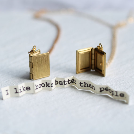 Book Locket ... Secret Message Personalised Book Lover's Gift £24.00