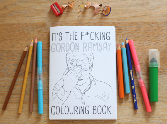 Gordon Ramsay Colouring Book  £6.50
