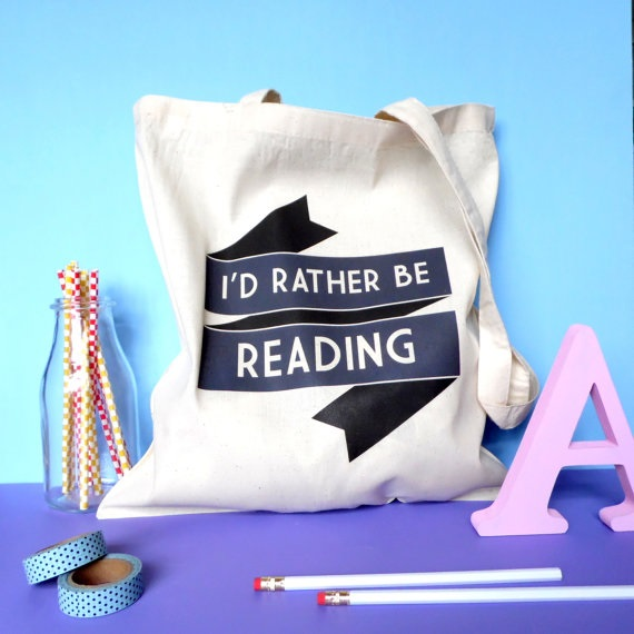 Rather be reading tote bag  £8.95