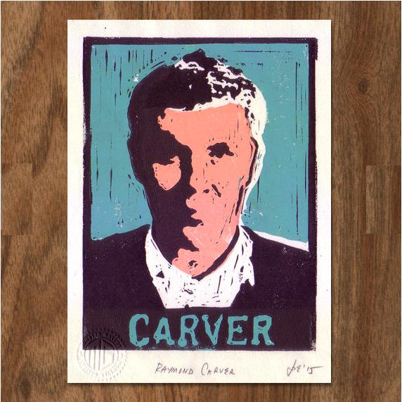 Raymond Carver Linocut print £20.00