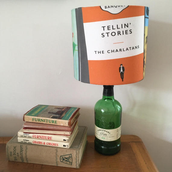 Lounge Books - Etsy - Fathers Day - Charlatans lamp