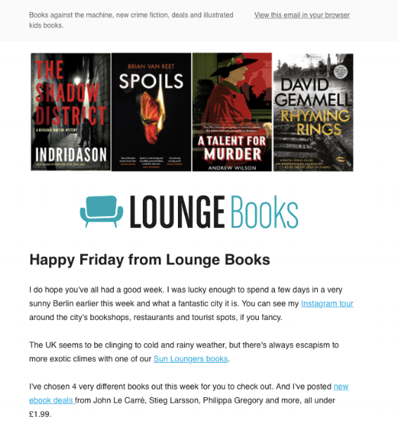 Lounge Books - email 4