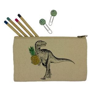 Dinosaur canvas pencil case  £11.60