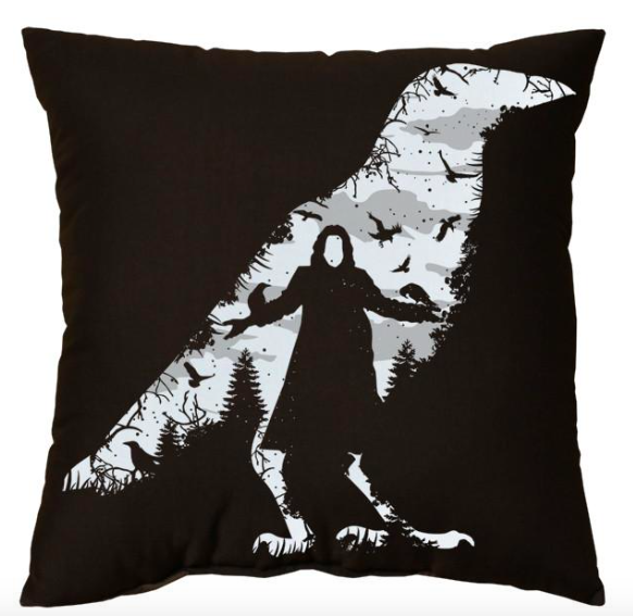 LB - Image - Horror Lounge - Horror Merch - Crow Pillow.png