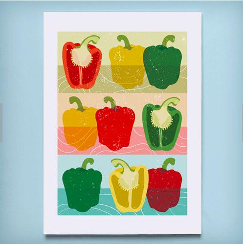 Vegetable Print    £12.00