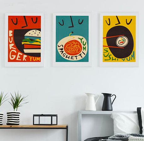 Retro Food Prints set of 3    £24.95