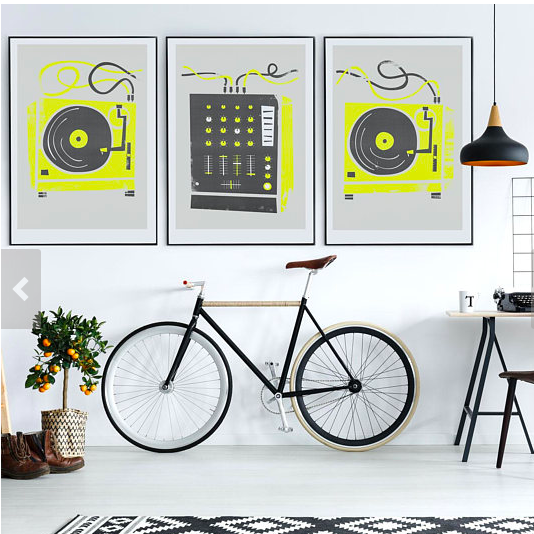 DJ Set of 3 Prints    £24.95