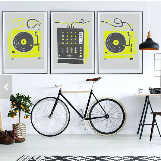 DJ Set of 3 Prints    £24.95