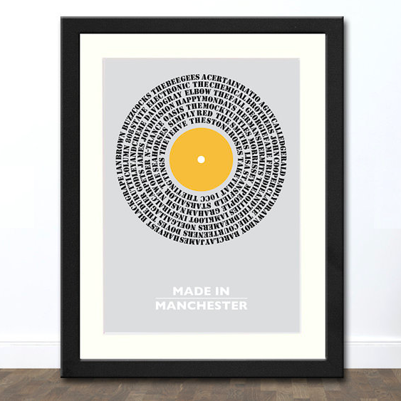 Music from Manchester Typography     £12.00