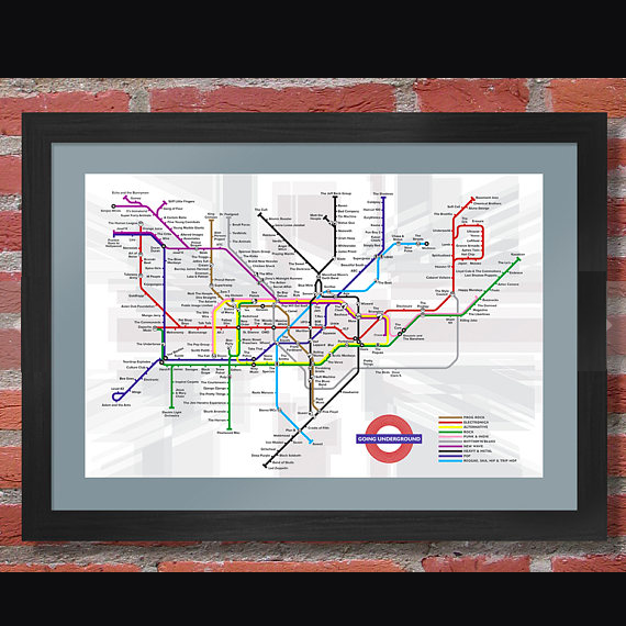 British Music Underground Map    £18.00