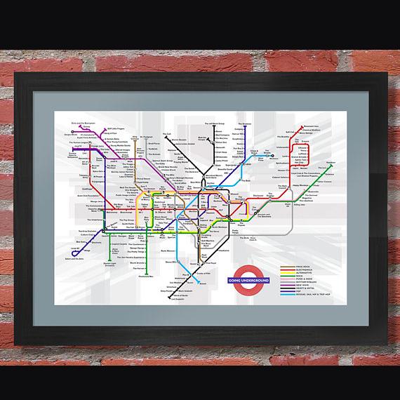 British Music Underground Map    £18.00