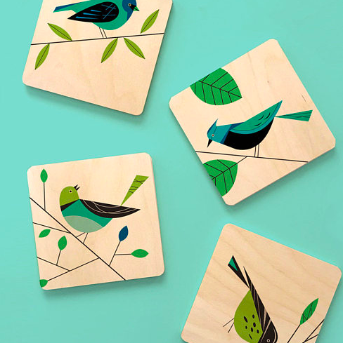 Bird Lovers Coaster Set £15.51