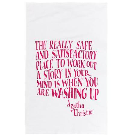 Agatha Christie Teatowel £7.95