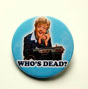 Murder she wrote Jessica Fletcher - button badge       £1.39