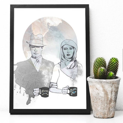 Bonnie and Clyde print     £12.00