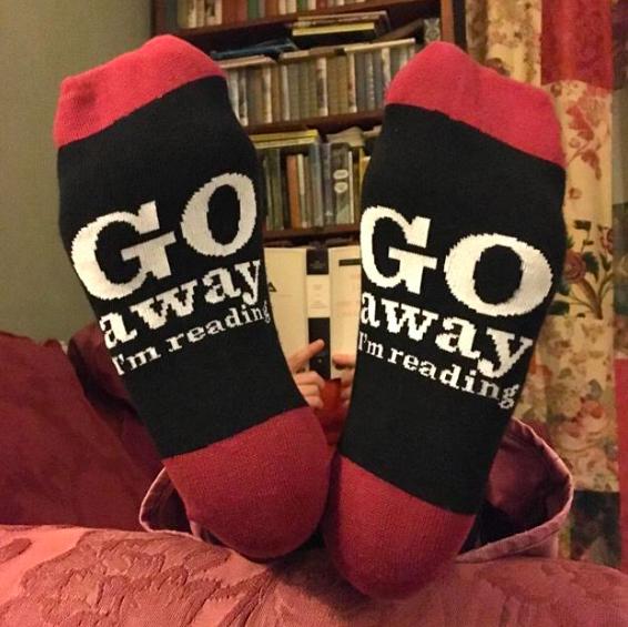 Go Away I'm Reading Socks    £7.99