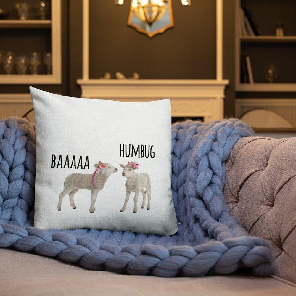 Baaaa Humbug cushion    £10.00