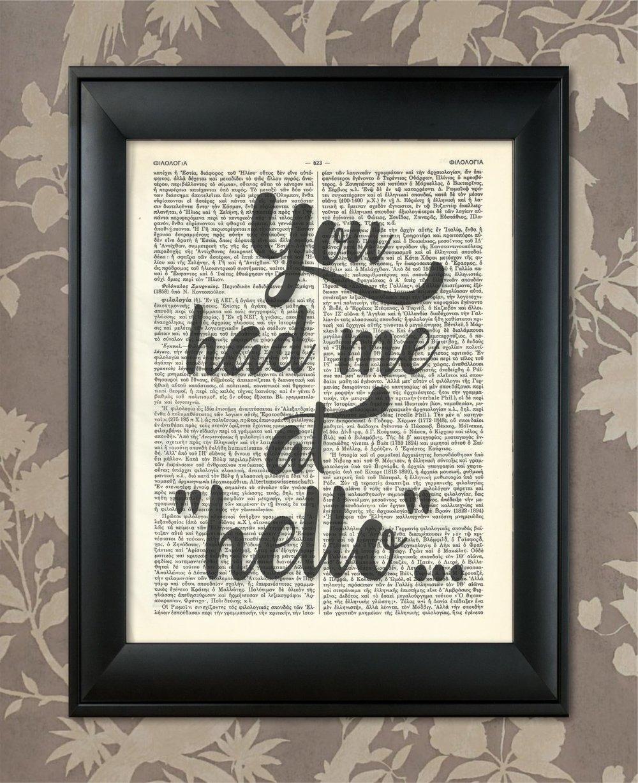 You Had me At Hello Print    £8.42