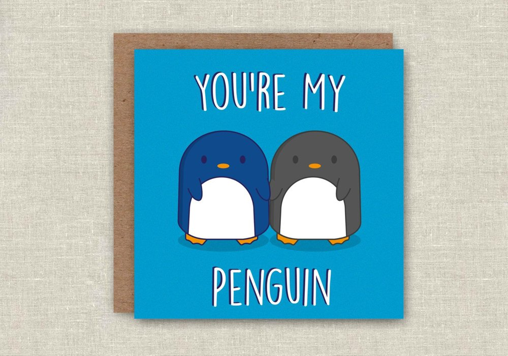 Christmas Card You're My Penguin    £1.87