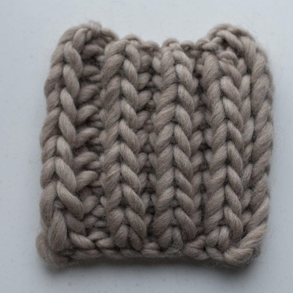 the Brioche Stitch - Color: Linen