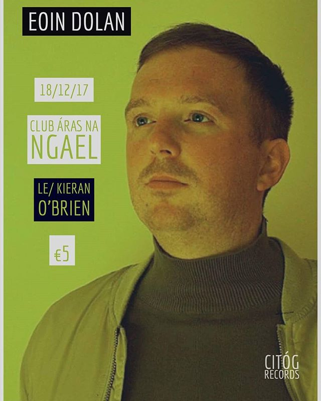 """Opening for Eoin Dolan tomorrow night in @aras_na_ngael club. He just released his second LP """"ubique"""" this year, excellent stuff, do check it out, you won't be let down! Lift off at 9 o clock! X #music #gig #galway #Instagram #galwaymusic #christmas #localmusic #localartists #independentartist #independentmusic #concert #pop #surf #wavy #eoindolan #kieranobrien (photo credit: Eoin Dolan)"""