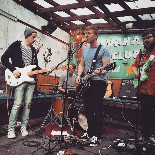 Thanks to everyone for coming down to @citogrecords garden party last night! Was good fun, nice to fit a new song into the setlist as well! Fair play to the lads learning it on such short notice! #legends ☺ Field Trip absolutely rocked the house afterwards! 😎 @citogrecords's #gardenparty @bluenotebargalway #gig #Galway #music #indie #guitars #jang #gretsch #jazzmaster #dreamy #industrial @waynefoy94 😁 . . . . Photo credit: @thiscantankerousgrrl