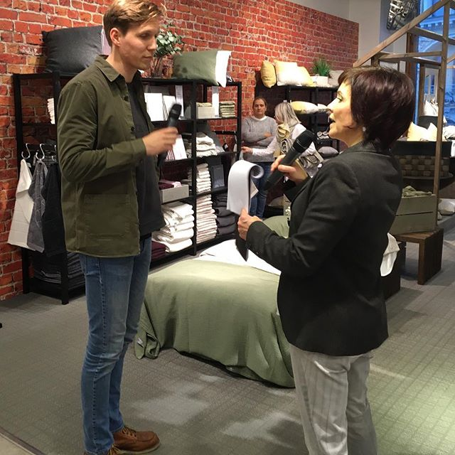 Interview at Stockmann's Pop Up store in Helsinki